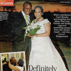 Mpho Osei-Tutu and Tumi Morake featured in Drum (Wedding)