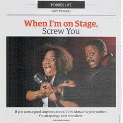 Mpho Osei-Tutu and Tumi Morake featured in Forbes Africa